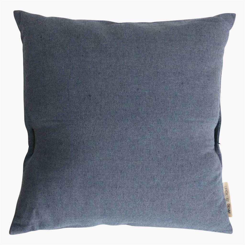 Cushion cover square dark blue
