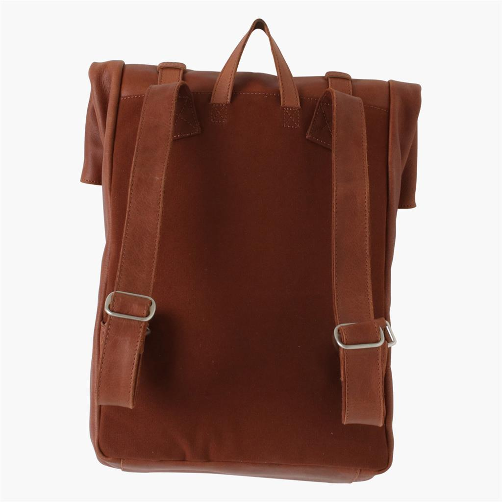 Backpack roll-up cognac
