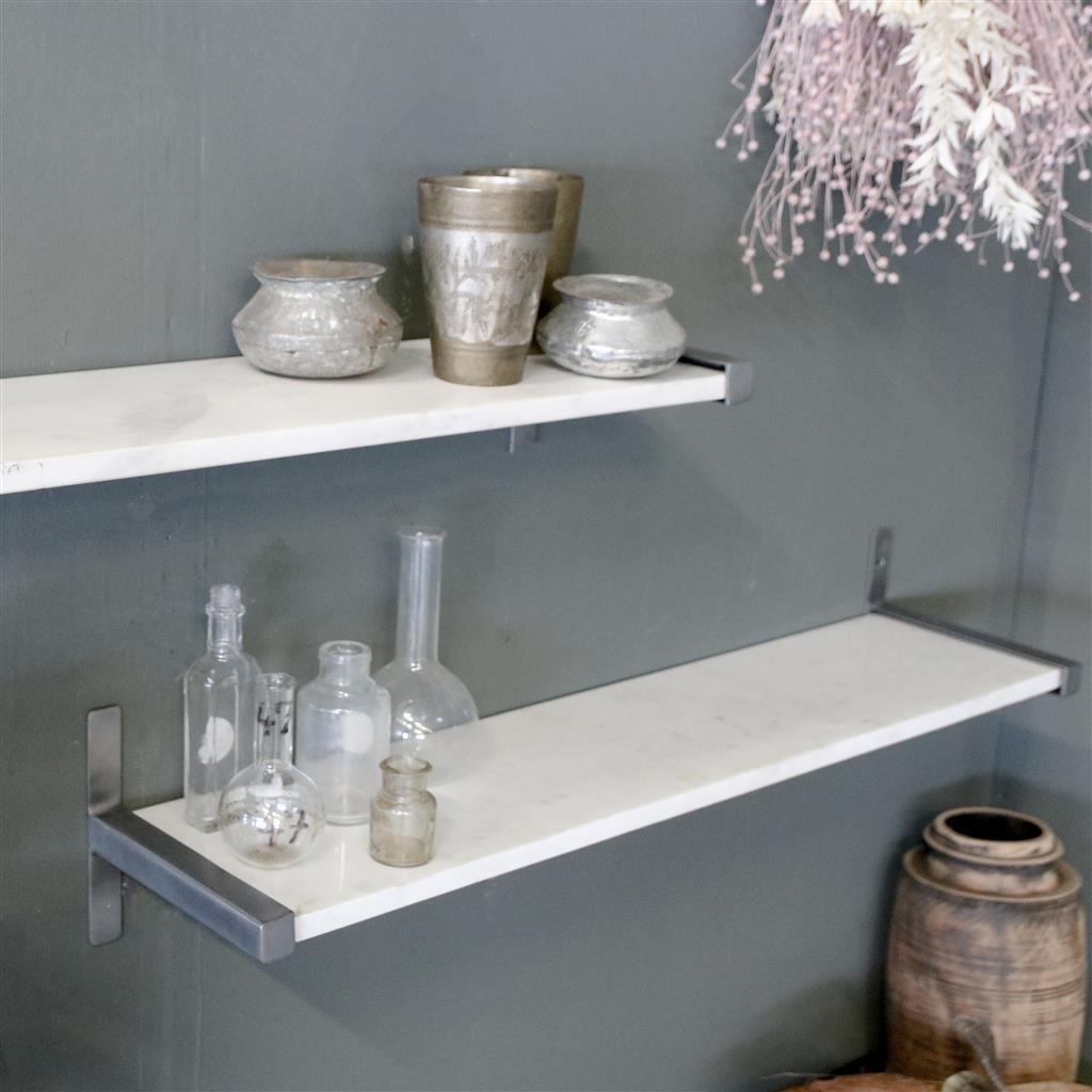 Marble wall shelf white