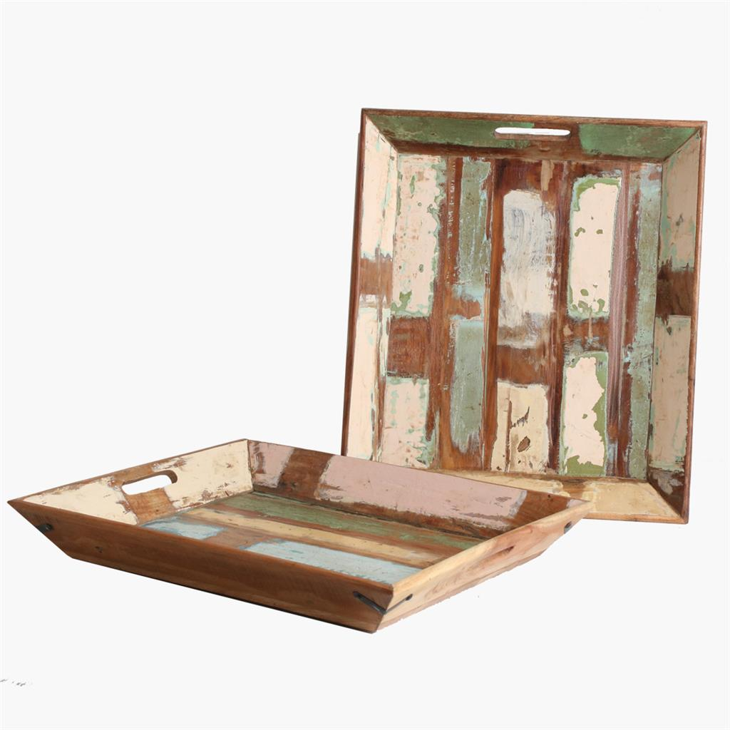 Scrapwood serving tray large