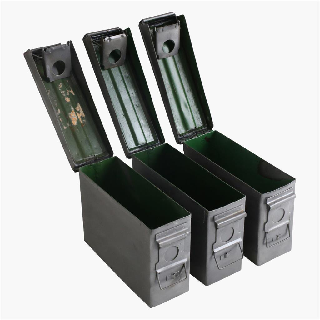 Army box silver polished iron