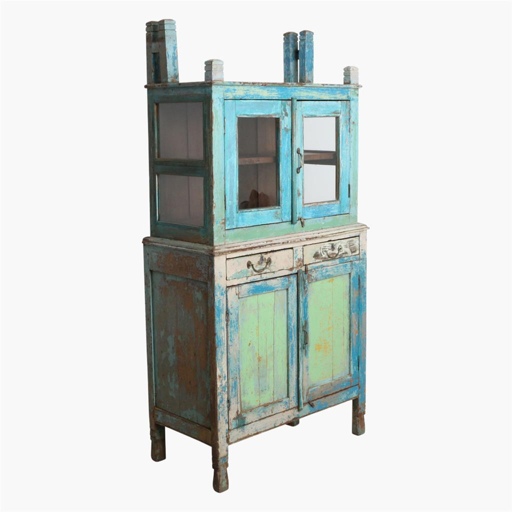 Blue/white/green 2 part cabinet