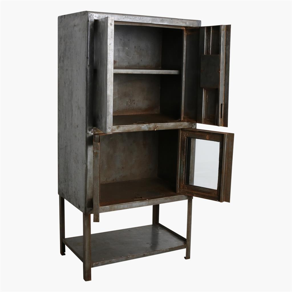 Iron high 4 door cabinet