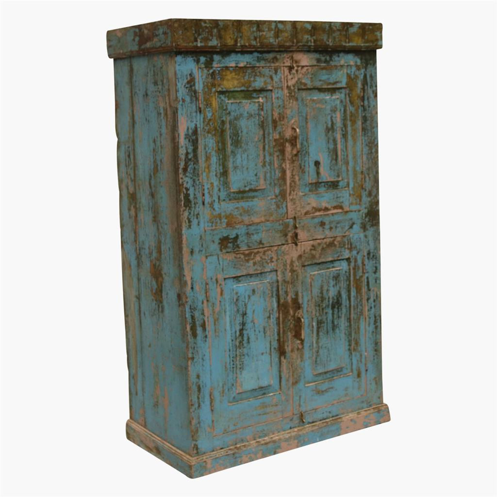 Blue & purple mix 4 door cabinet