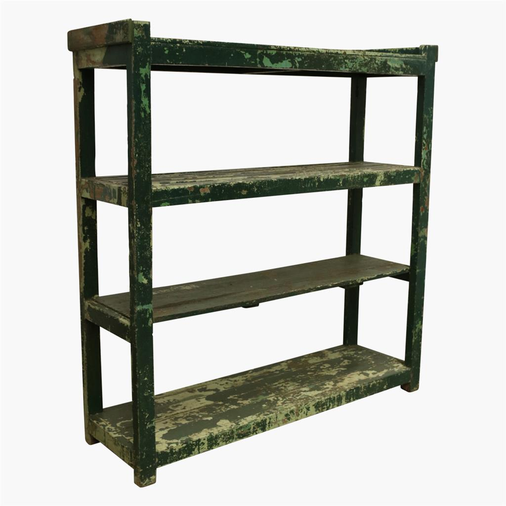 XL green rack  4 shelves with laths