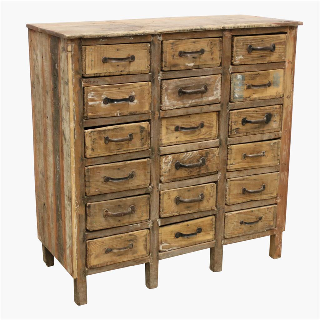 18drawer hardware store wood cabinet