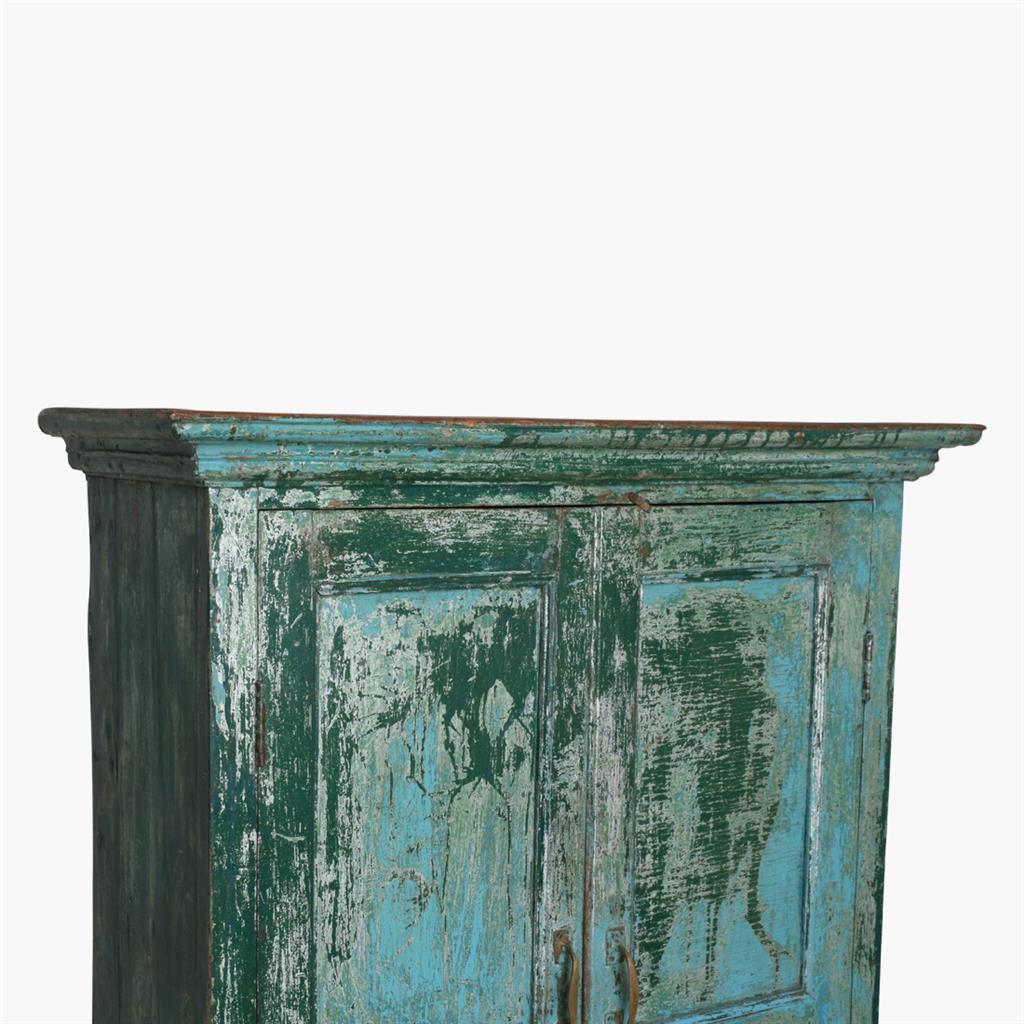 Blue & green 2 door cabinet