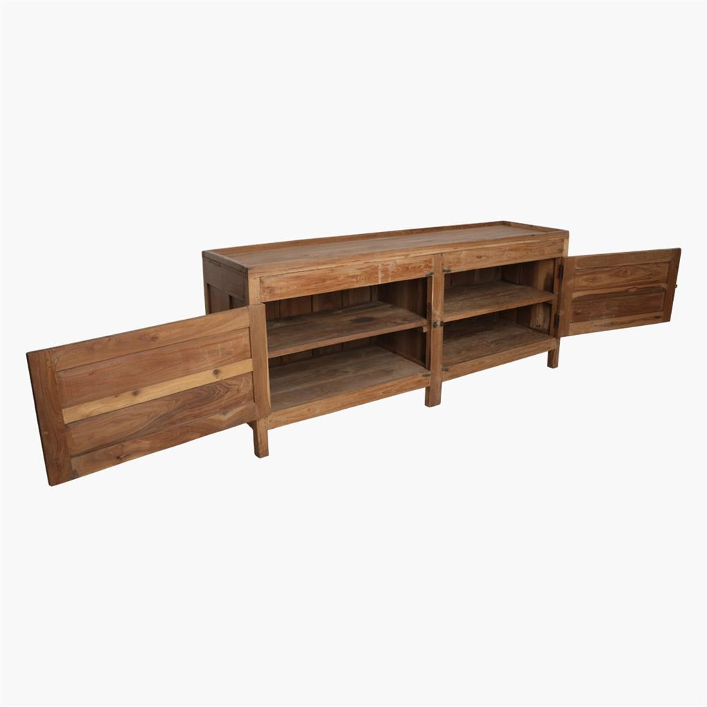 Natural teak long sideboard