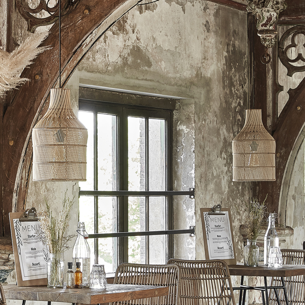 Maze lamp bottle natural small