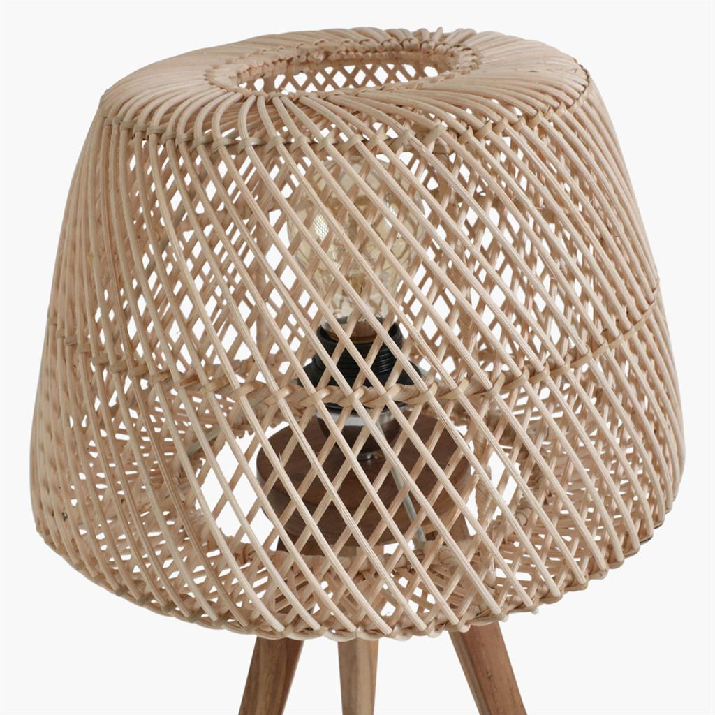 Maze tripod table lamp natural
