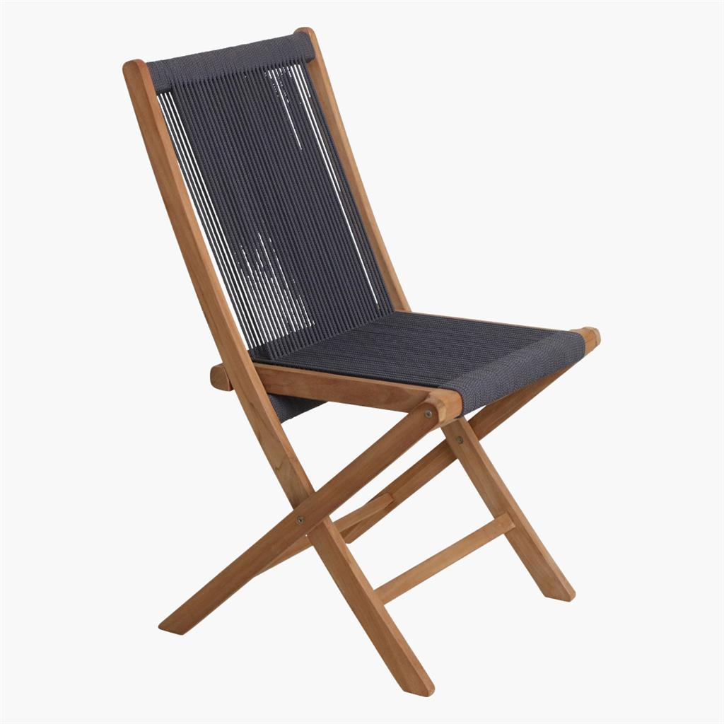 Rope folding chair anthracite