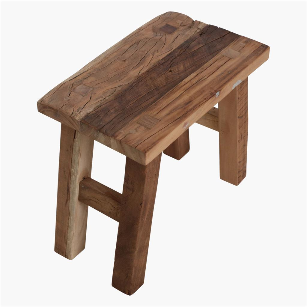Farmwood rectangular stool