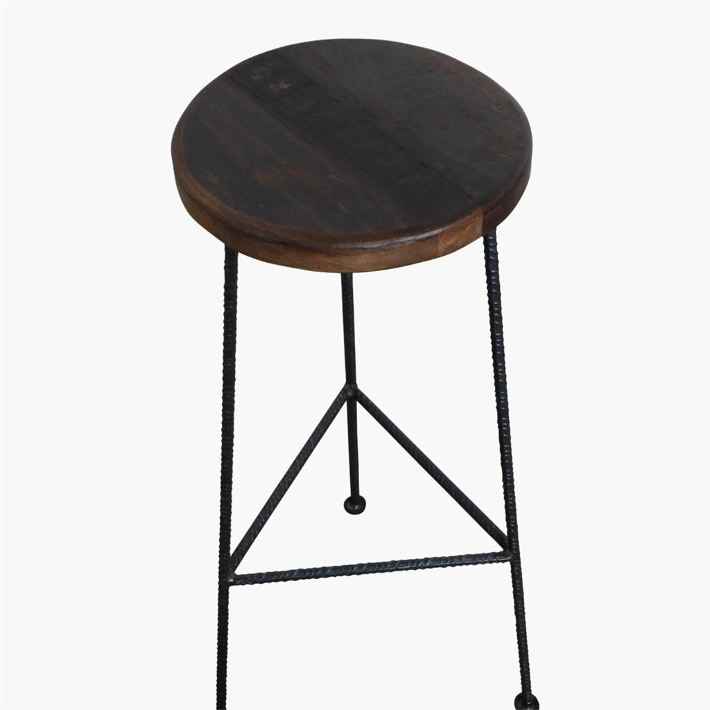 Factory bar stool construction rod