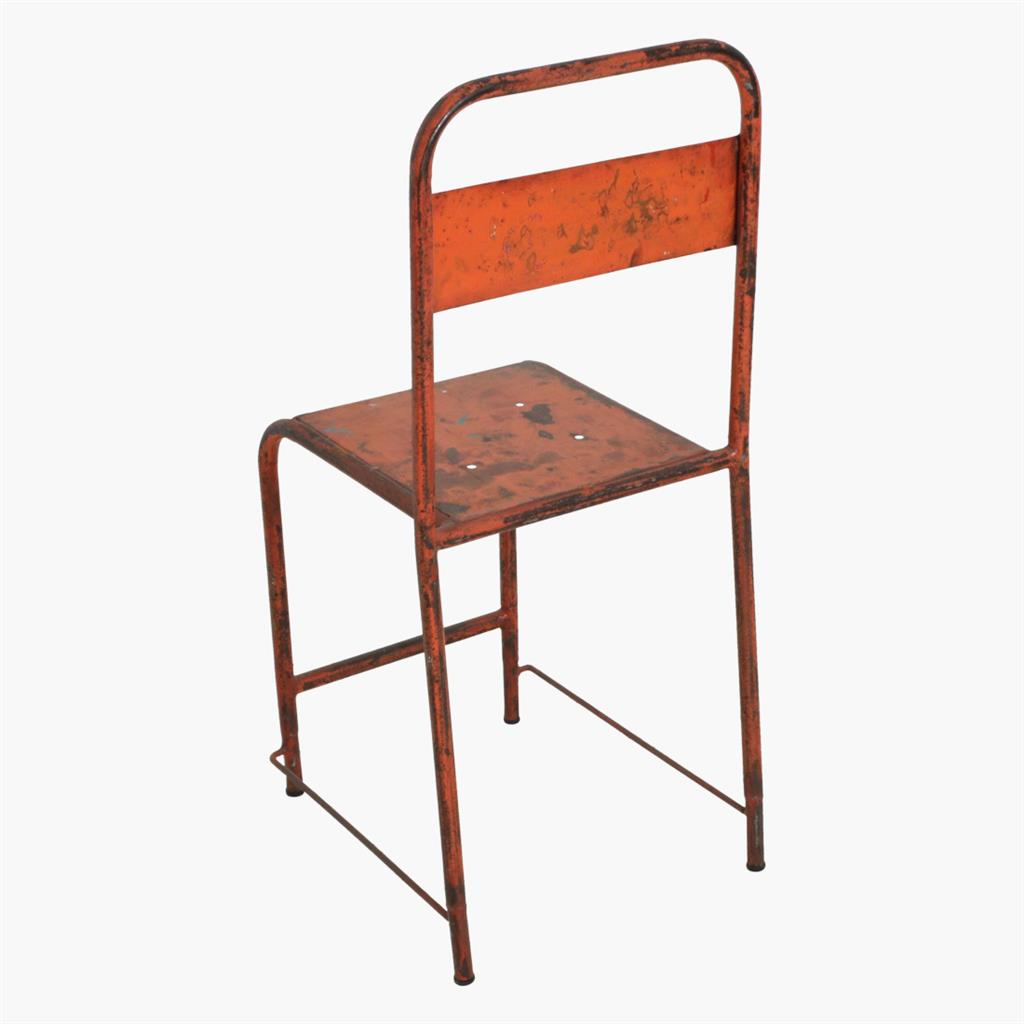Java iron chair orange