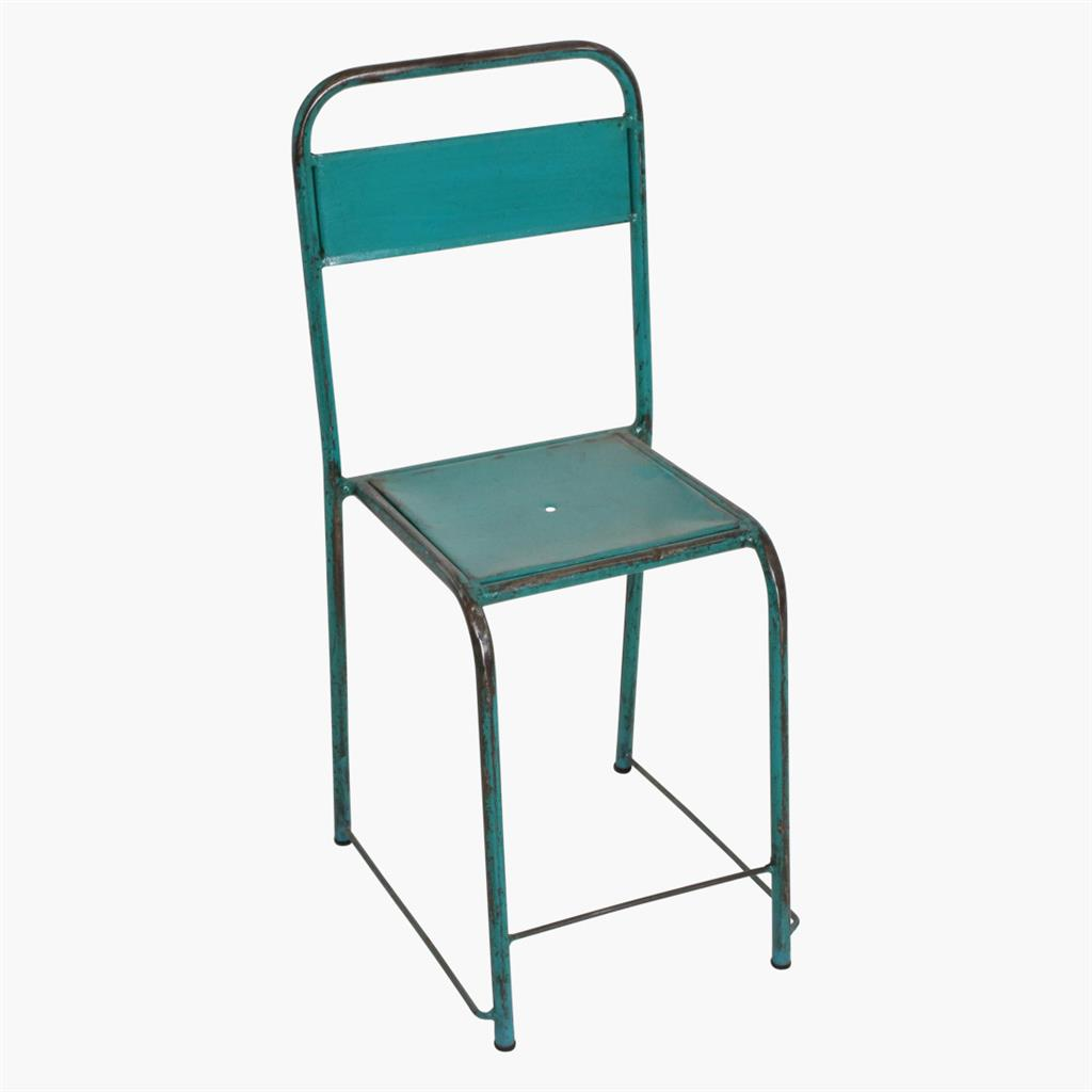 Java iron chair sea green