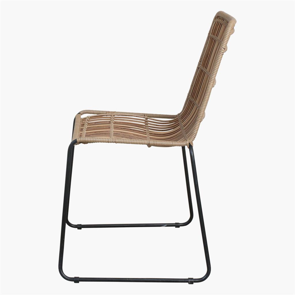 Jane slim outdoor chair natural