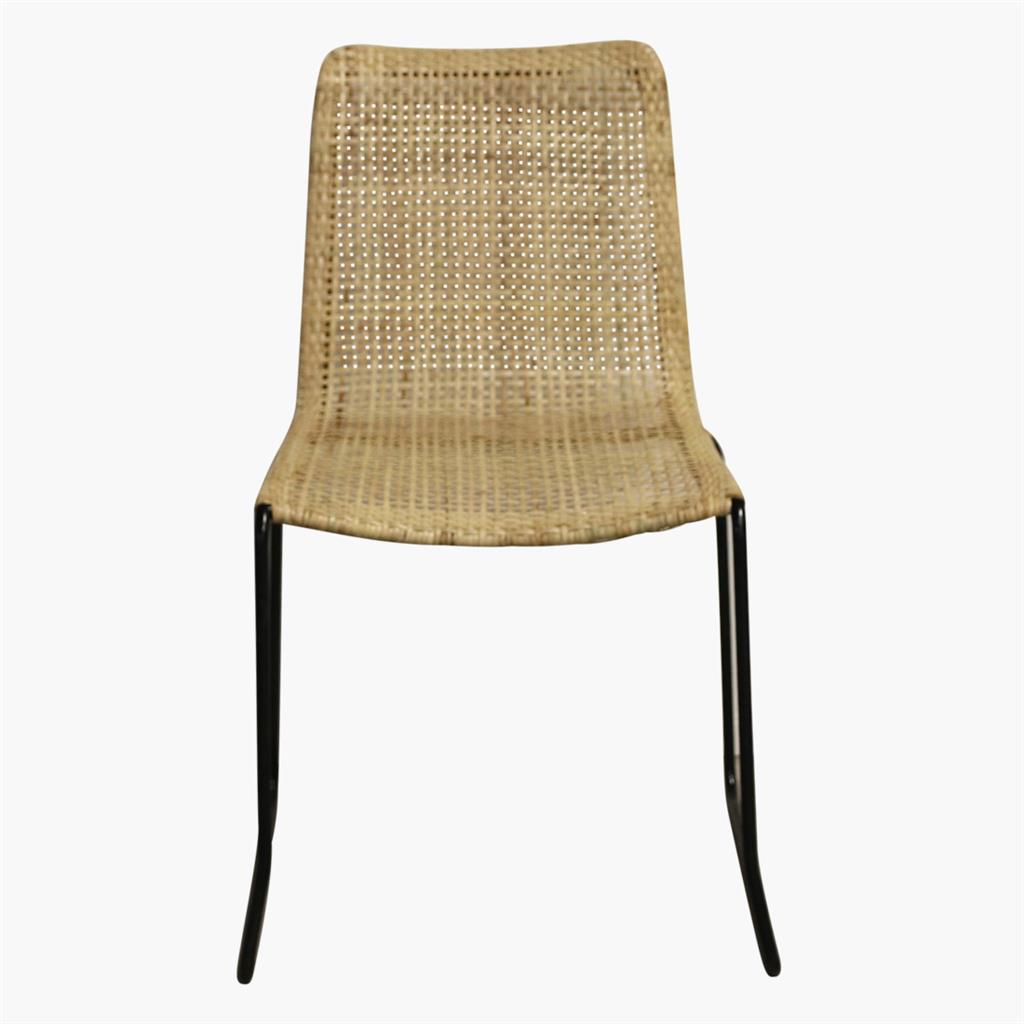 Jane woven natural chair slim