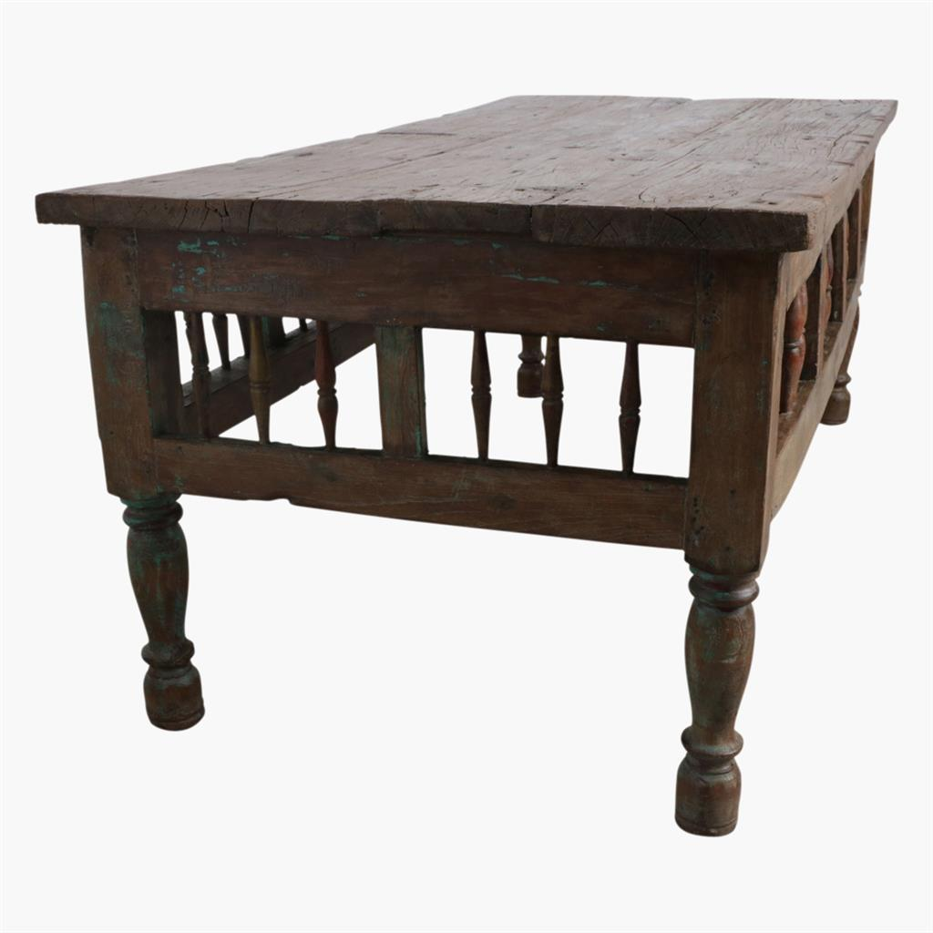 Teak spindle table