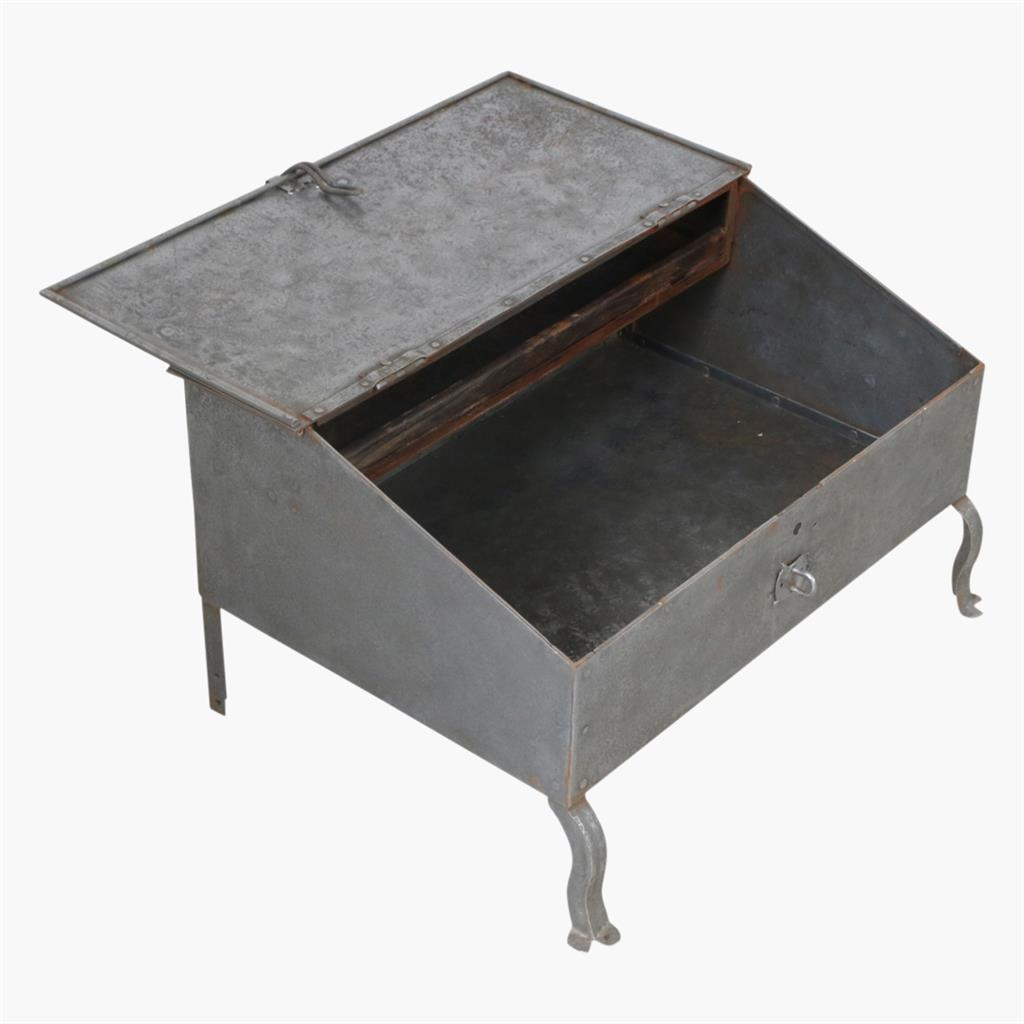 Old iron desk antique silver