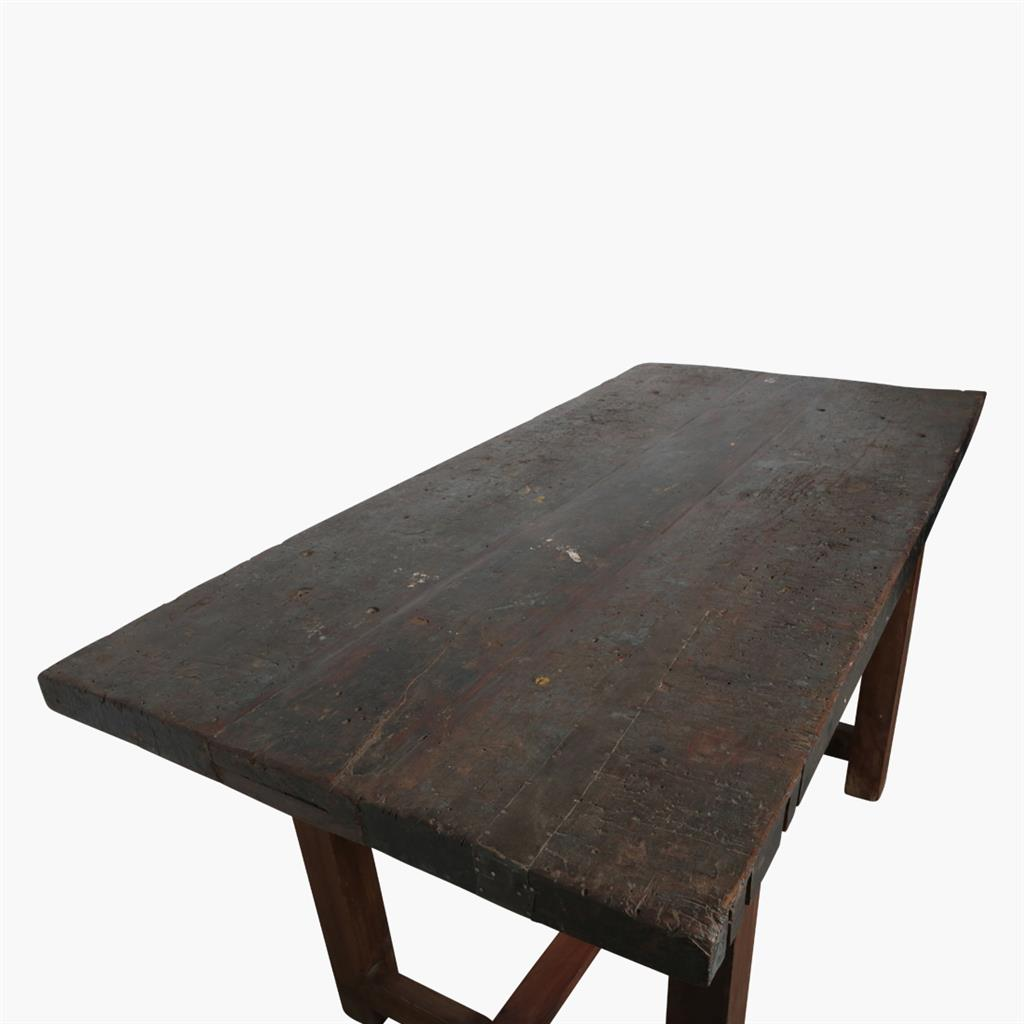 Old industrial thick work table