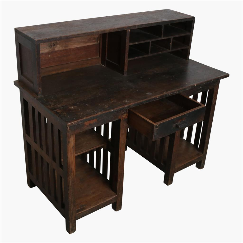Old teak writing desk