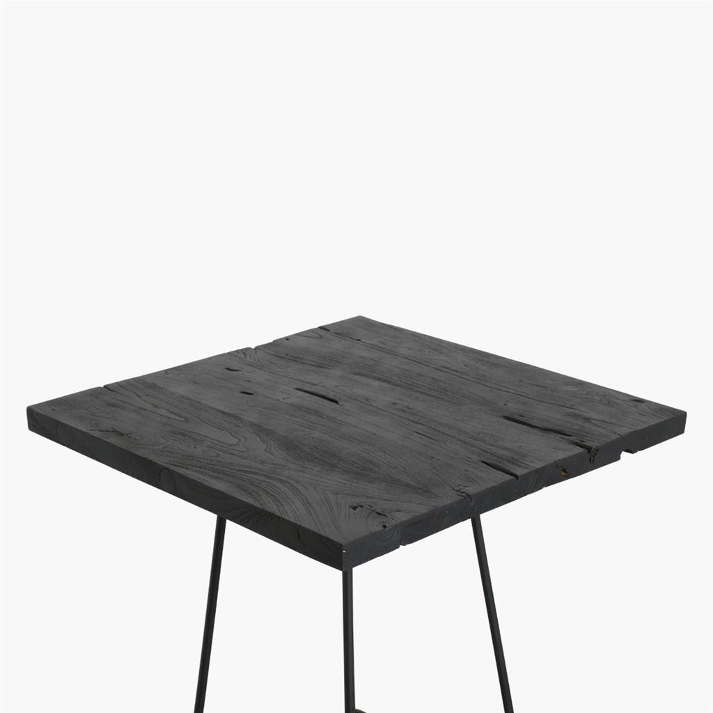 Loft table top black 70x70 cm