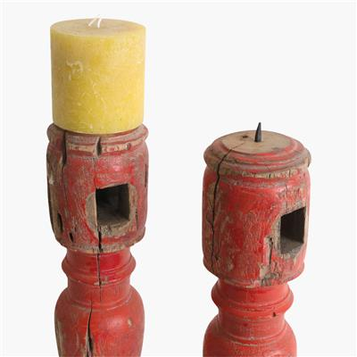 Charpoi candle stand -set of 2