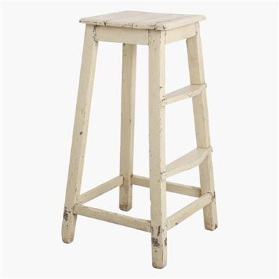 Cream high stool