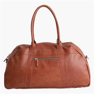 Weekend bag cognac