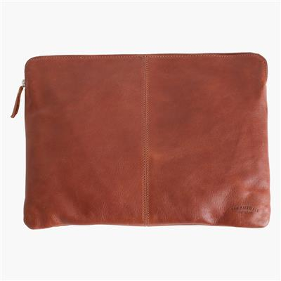 "Leren laptophoes 15"" - Cognac"
