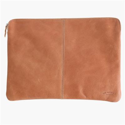 "Leren laptophoes 15"" - Camel"