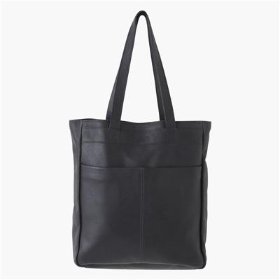 Leren shopper tas - Antraciet