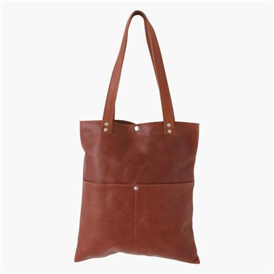 Shopper long cognac