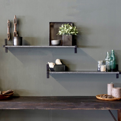 Marble wall shelf black