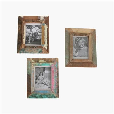 Scrapwood vintage photo frame large