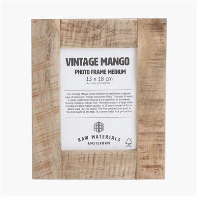 Vintage mango photo frame medium