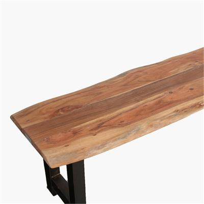 Acaciawood curved bench 180cm