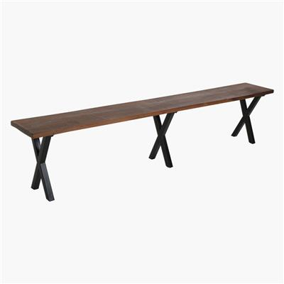 Factory bench iron X-legs 220 cm
