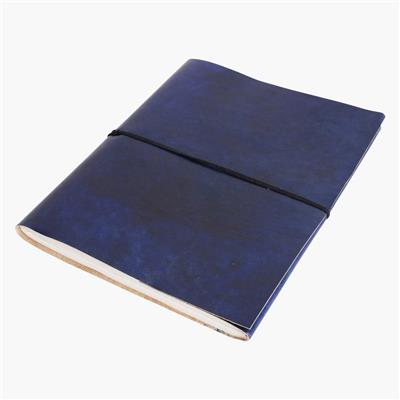 Vora leather BM photo album BLUE