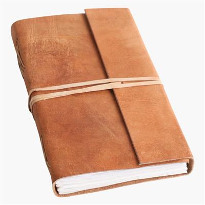 Nat. buffalo leather travelbook L