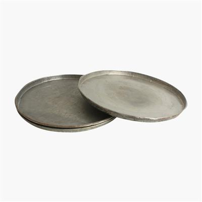 Metal tray round