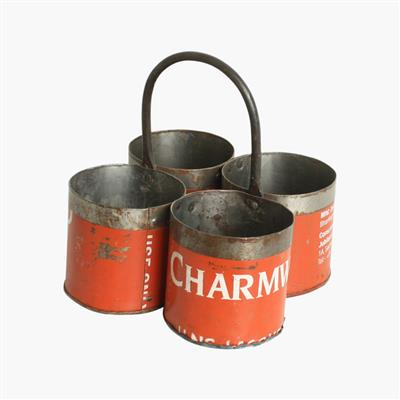 Scrapmetal vegetable holder 4 cups