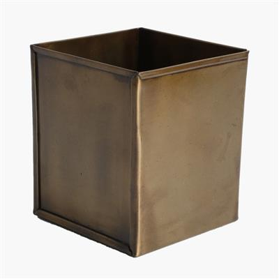 Square box high antique brass finish