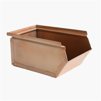 Storage box antique copper finish