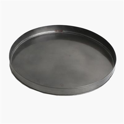 Round tray antique silver finish