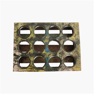 Scrapwood serving tray for 12 glasses