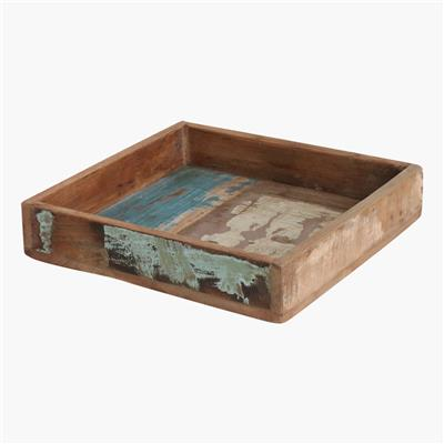 Scrapwood square tray medium