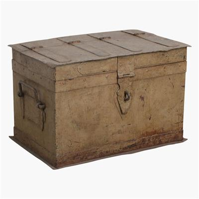 Green iron money chest