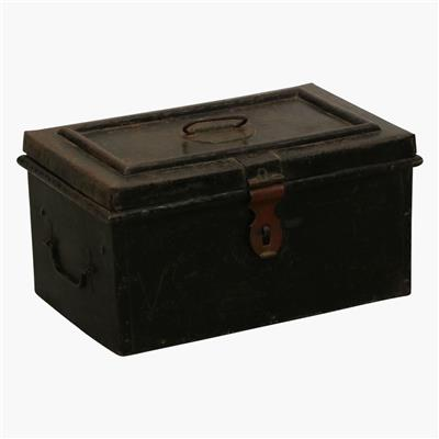 Black heavy iron cash box