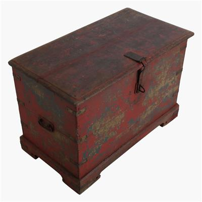 XL red chest + iron hardware